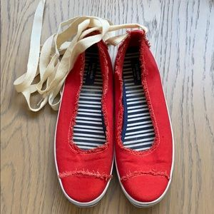 Red Kate Spade Sneakers